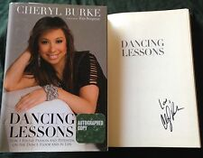 Cheryl Burke signed Dancing Lessons book with stars DWTS Ryan Lochte 1/1 1st ed