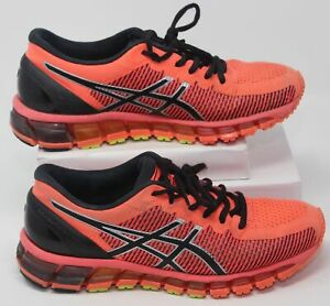 Asics Womens Size 8 Gel-Quantum 360 CM T6G6N Flash Coral & Black Running Shoes