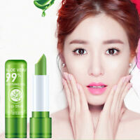 1Pc Aloe Vera Lipstick Lip Balm Color Mood Changing Long Lasting Moisturizing C