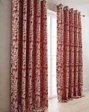 Rideaux rouge à motif Floral pour la maison