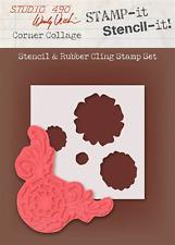 Stamp It Studio 490 Red Rubber Stamp Corner Collage