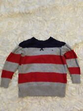 Tommy Hilfiger Striped Toddler Boys Pullover Sweater Size 2T