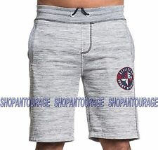 AFFLICTION Perfect Storm 1ASWS082 Men`s New Silver Sweat Shorts