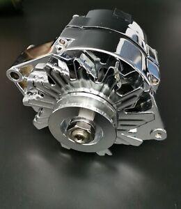 SB Ford 1G Style Chrome 110 AMP 1 Wire Alternator Mustang 289 302 351 V8 10SI V