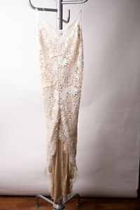 Magali Pascal French Designer Delicate White Cocktail Dress SIMPLY STUNNING sz L