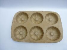 Pampered Chef Stoneware Mini Bundt Pan Family Heritage Collection Seasoned