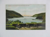 Vintage Postcard Hudson River From West Point Battery New York Cannon
