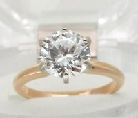 0.70ct Genuine GIA Certified 'SI' 'F' Diamond Solid Gold Engagement Ring SPARKLY