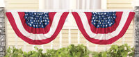 Set of 2 4th of July Stars and Stripes Flag Porch Fence Bunting