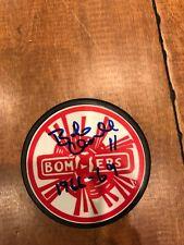 "Flin Flon Bombers Puck AUTO Signed by Bob Clarke with ""1966-69"" Inscription COA"