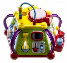 Educational Activity Cube Play Center Kids Toddler Baby Toy Musical Safety New