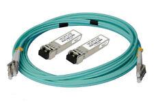 Mellanox - 10G SFP+ GBIC Glasfaser Kit 2x + 1x 10m OM3 türkis/ aqua LWL