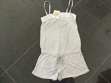 NWT Juicy Couture New & Genuine Grey Cotton Romper Size Small UK 8/10 With Logo