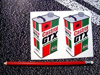 CASTROL GTX Oil Can Stickers 3D Motorcycle  V8 Car F1 Lemans MOTO GP BTCC Rally