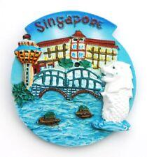 FRIDGE MAGNET 3D SOUVENIR SINGAPORE LION CITY MERLION PARK CHANGI AIRPORT TOWER