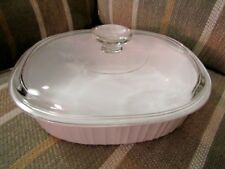 CORNING WARE FRENCH WHITE 2.8 LITER OVAL BAKING DISH WITH GLASS LID