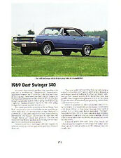1969 Dodge Dart Article - Must See !!