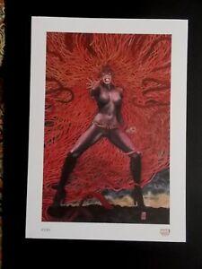 """Milo Manara  ( Print ) """"  Medusa  """"  ,  Marvel .... N° 10 / 10"""