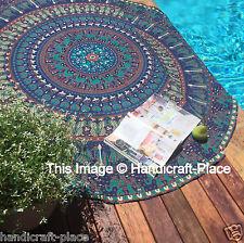 Bohemian Indian Mandala Round Beach Tapestry Hippie Throw Yoga Mat Towel Roundie