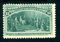 USAstamps Unused FVF US 1893 Columbian Announcing Discovery Scott 238 OG MLH