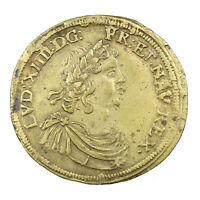 Jeton de Compte en laiton Louis XIV frappé à Nuremberg XVIIème siècle