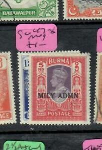 BURMA   (PP0709B)  KGVI   1R, 5R   SG 47, 49        MOG