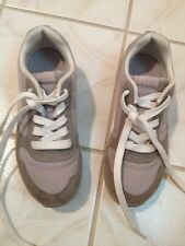 Unisex Polo Tennis Shoes In Light Gray For Kids Size  1
