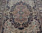 """ANTIQUE SAROUKK HAND KNOTTED WOOL IVORY FINE ORIENTAL RUG CLEANED  4'5"""" x 6'9"""""""
