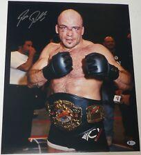 Bas Rutten Signed 16x20 Photo Beckett COA UFC 18 20 Pancrase Belt Picture Auto 1