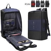 Men's Laptop Backpack 17 inch Multifunction Bag External USB Charging Travel Bag