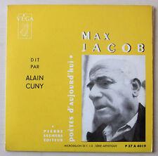 LP Poèsie Max JACOB par Alain CUNY - Adès 33t - 17 cm - éd. Pierre Seghers