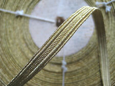 "UNUSED Vintage Antique French Gold Metallic Trim 5/16"" Military Lace"