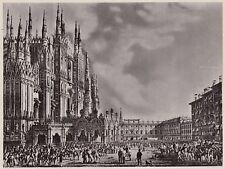 D4952 Ferdinando I° entra nel Duomo di Milano - Stampa d'epoca - 1938 old print