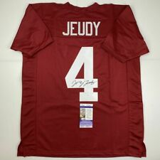 Autographed/Signed JERRY JEUDY Alabama Red College Football Jersey JSA COA Auto