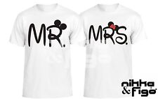 T SHIRT maglietta MINNI TOPOLINO INNAMORATI T-SHIRT matrimonio happiness LOVE