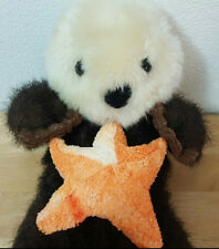 Vintage Petting Zoo Stuffed Plush Otter With Sea Star Starfish 11in 1994 HTF