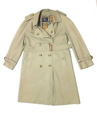 da5b187da00 VINTAGE BURBERRY DOUBLE BREASTED NOVA CHECK BELTED TRENCH COAT UK 50 SHORT