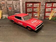 1966 Dodge Charger Custom Weathered Rusty Barn Find 1/64 Diecast Car Coca Cola