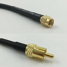 30cm RG316 SMA MALE to RCA MALE Pigtail Jumper RF coaxial cable 50ohm 12inch
