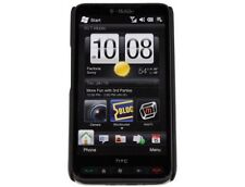 Hard Rubberized Phone Cover Black For T-Mobile HTC HD2