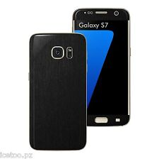 For SAMSUNG GALAXY S7 3D BRUSHED METAL Effect Decal Wrap Protector Sticker Skin