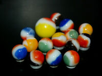 1950's-1960's  14 Vitro Agate Allred Marbles With SHOOTER DT-2