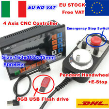 【IT】4 Axis Offline Standalone Motion CNC Controller G-Code+MPG Handwheel+E-Stop