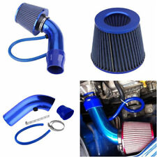 Universal Car Cold Air Intake Filter Alumimum Induction Kit Pipe Hose System Blu
