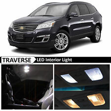 18x White Interior LED Lights Package Kit for 2010-2015 Chevy Traverse + TOOL