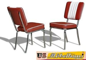 CO-24 Ruby Bel Air Furniture 2 Chairs Diner Kitchen IN Style Der 50er Years USA