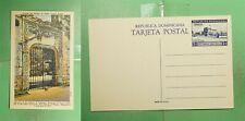 DR WHO DOMINICAN REPUBLIC UNUSED PICTORIAL POSTAL CARD ALCAZAR ENTRANCE  g02080