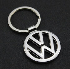 Car Logo 3D Chrome Titanium Metal Alloy Keyfob Keyring Keychain Key  Ring for VW