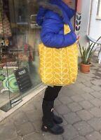 ORLA KIELY FABRİCBAG- YELLOW STEM SHOULDER TOTE BAG-SHOPPING BAG-HANDMADE