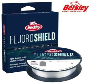 Berkley FluoroShield 300yd Fluorocarbon Infused Copolymer Fishing Line Clear NEW